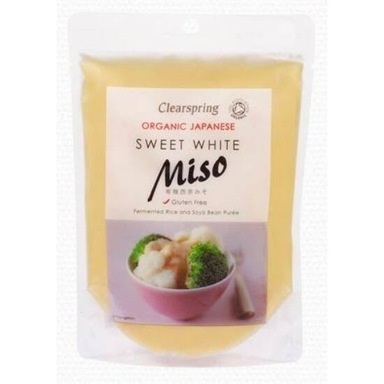 Clearspring bio Édes fehér miso tasakos 250 g
