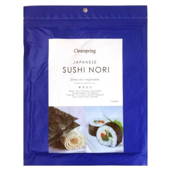 Clearspring Sushi Nori pirított algalap 7 db