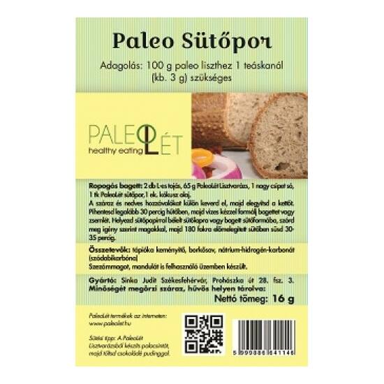 PaleoLét Paleo sütőpor 16 g