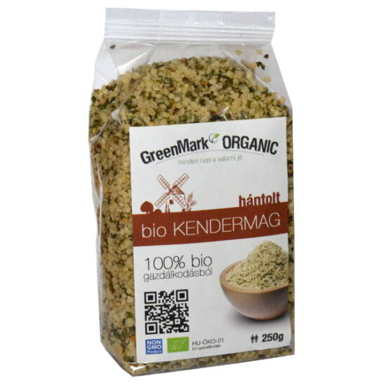 GreenMark bio hántolt kendermag 250 g