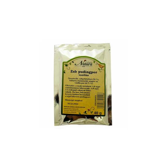 Natura zab pudingpor 40 g  vaníliás