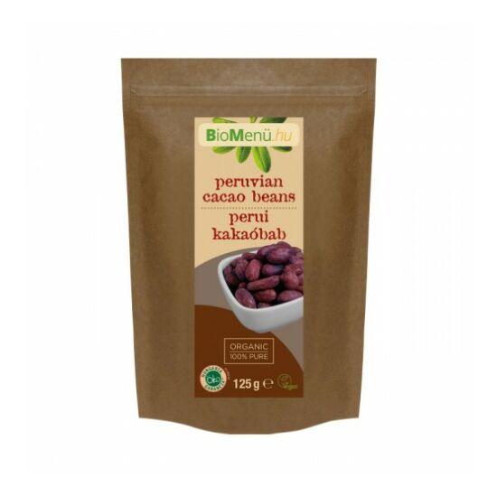 Biomenü Egész nyers perui kakaóbab bio 125 g