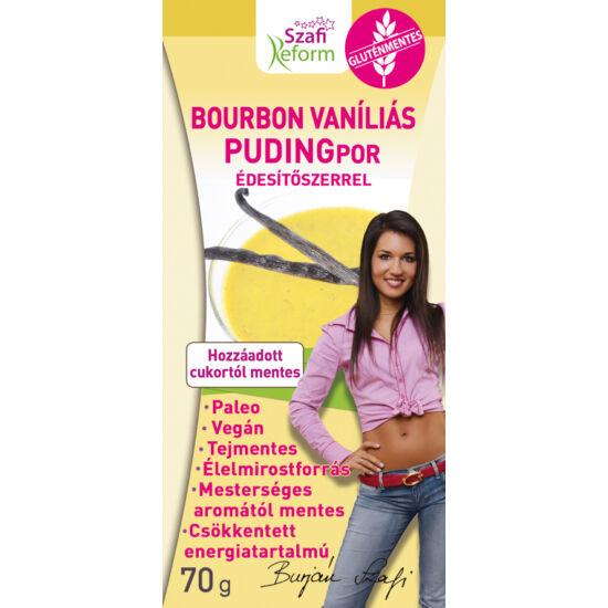 Szafi Reform Bourbon vaníliás pudingpor édesítőszerrel gluténmentes paleo vegán 70 g