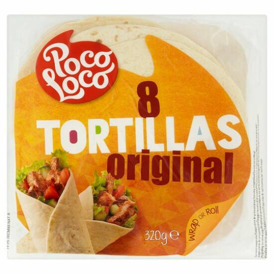 Poco loco 8 tortilla búzalisztből 320 g
