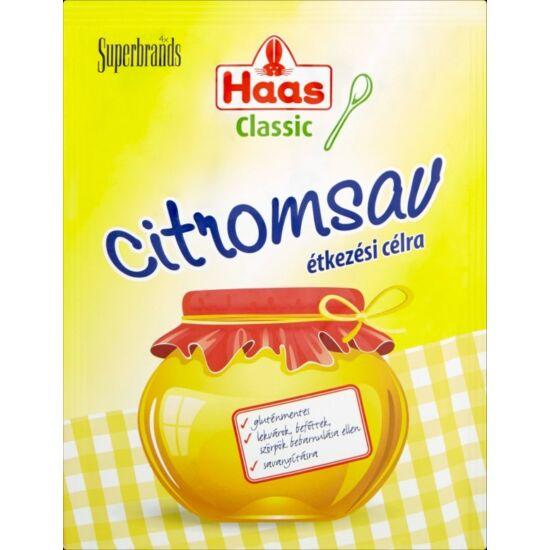 Haas Classic étkezési citromsav 15 g