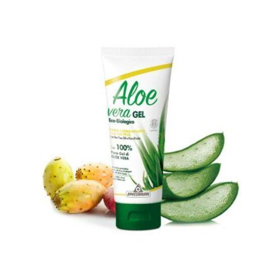 Specchiasol® Aloe vera gél teafa illóolaj - és fügekaktusz kivonat erejével. ECOBIO minősítésű 100%-os, külsőleg 200ml