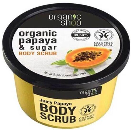 Organic Shop Bio Papaya Juice Bőrradír Papayával és Cuk 250 ml