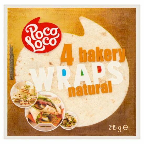 Poco Loco Lágy Tortilla Búzalisztből 245 g