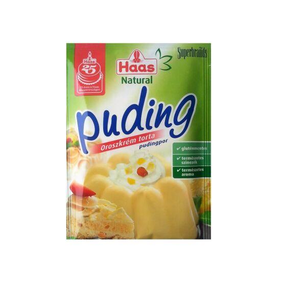 Haas Natural Pudingpor Oroszkrém ízű 40 g