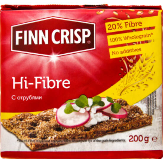 Finn Crisp Hifibre Ropogós Kenyér Rozskorpával 200 g