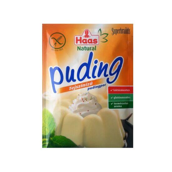 Haas Natural Pudingpor Tejszín ízű 40 g