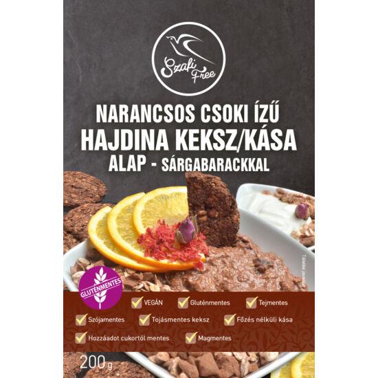 Szafi Free Narancsos Csoki Ízű Hajdina Kása / Keksz Alap  Sárgabarackkal 200g Gluténmentes
