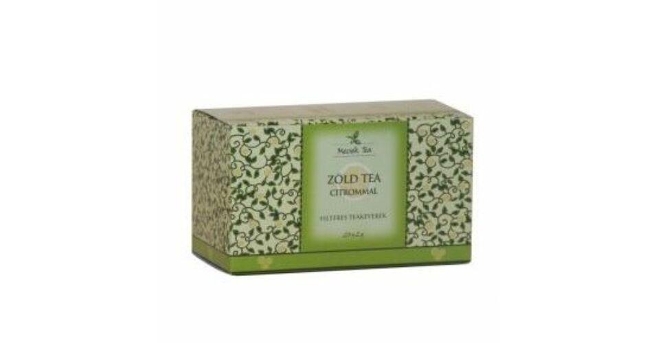 Mecsek Zöld tea citrommal, 20 filter - Mecsek tea - Biosziget